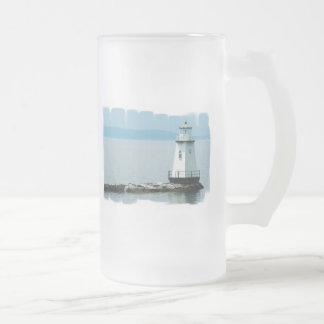 Unusual Lighthouse Frosted Beer Mug