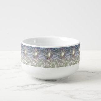 Unusual modern art soup mug