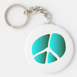 Unusual Peace Symbol, Wax Stamp Silhouette Basic Round Button Key Ring