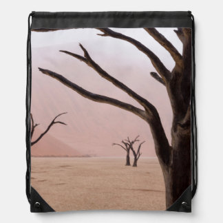 Unusual rainy weather conditions in early morning drawstring bag