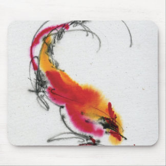 Unusual Rooster. Calligraphy and watercolor. Mousepads