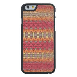 Unusual strange pattern carved® maple iPhone 6 case
