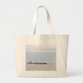 Unusual Three Masted Sailing Vessel Canvas Bags