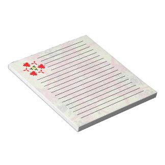 Unusual trendy modern pattern notepad