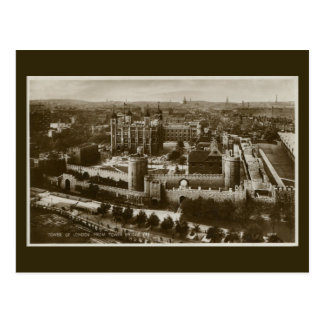 Unusual view Tower of London vintage photo Postcard