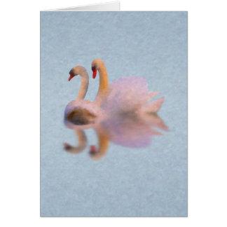 Unvalentine Swan Card w/Poem (Swan Song)