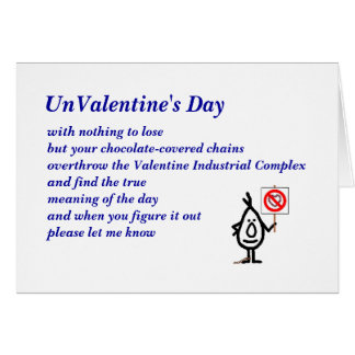 UnValentine's Day Greeting Card