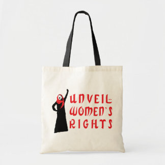 Unveil Muslim Women's Rights Budget Tote Bag