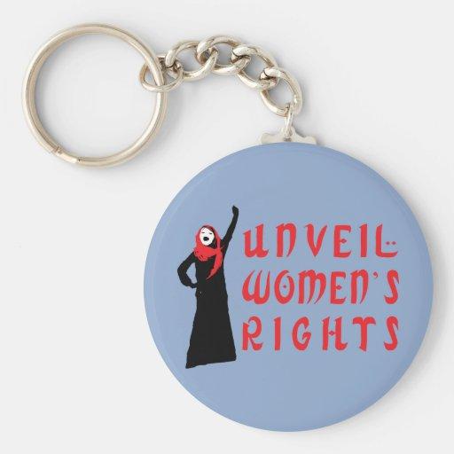 Unveil Muslim Women's Rights Keychain