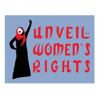 Unveil Muslim Women's Rights Postcard