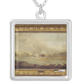 Unveiling of the Pont de Neuilly, 1772 Silver Plated Necklace