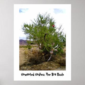 Unwanted Undies: The Bra Bush poster