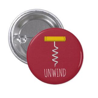Unwind Corkscrew 3 Cm Round Badge