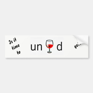 unwined bumper sticker