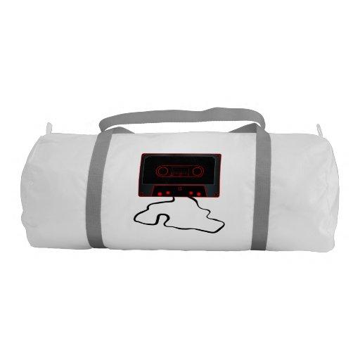 Unwound Black Audio Cassette Gym Bag
