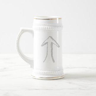 Up Arrow. Gray. Beer Stein
