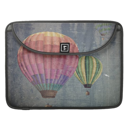 Up & Away/Hot Air Balloons Vintage Retro Art Sleeve For MacBooks