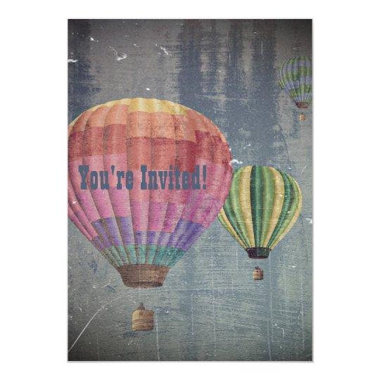 Up & Away/Hot Air Balloons Vintage Retro Decor