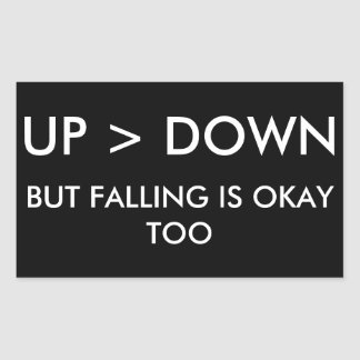 Up > Down Rectangular Sticker