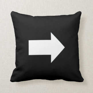 Up Down Right Left Directional Arrow Black White Throw Cushions