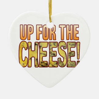Up For Blue Cheese Ceramic Heart Decoration