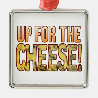 Up For Blue Cheese Silver-Colored Square Decoration