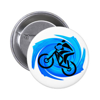 UP FOR RIDING 6 CM ROUND BADGE