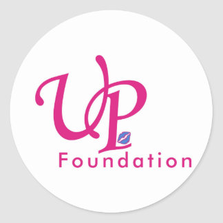 Up foundation classic round sticker