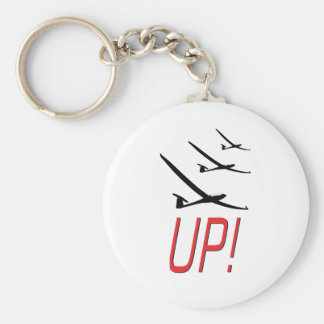 UP !  Glider Sailplane Key Ring