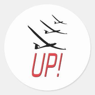 UP !  Glider Sailplane Sticker