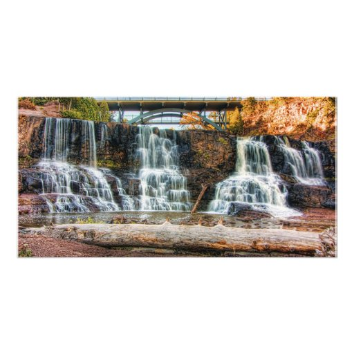 Up Gooseberry Falls Personalized Photo Card