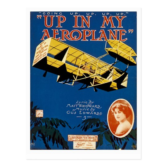Up in My Aeroplane Postcard