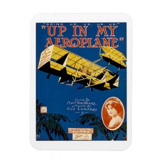 Up in My Aeroplane Rectangular Photo Magnet