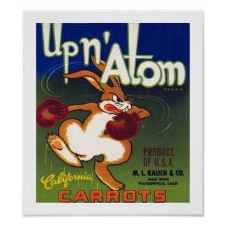 Up n' Atom California Carrots Poster