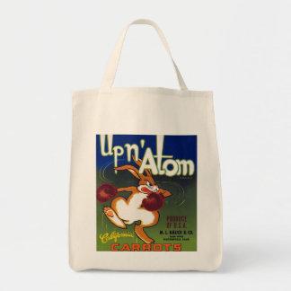 Up n' Atom California Carrots Grocery Tote Bag