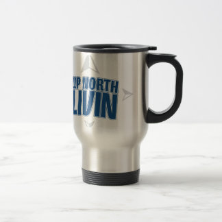 Up North Livin - Compass Stainless Steel Travel Mug