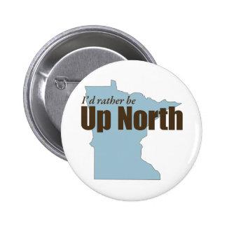 Up North - Minnesota 6 Cm Round Badge