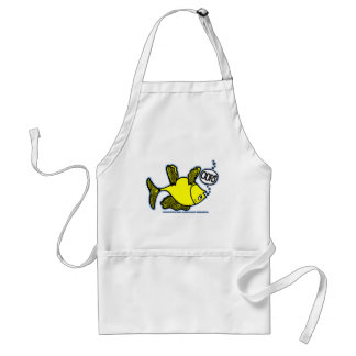 Up Side Down Fish! Adult Apron