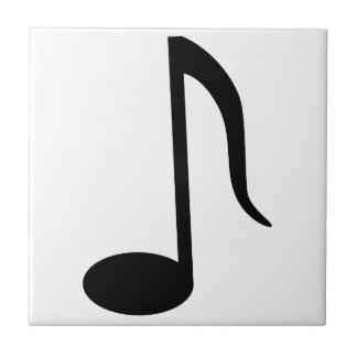 Up Stem 8th Note Small Square Tile