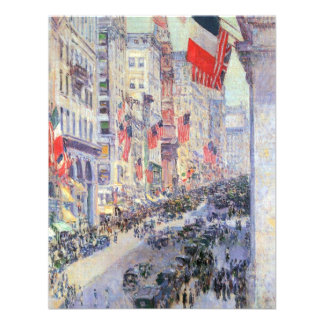 Up the Avenue from 34th Street, May 1917 by Hassam Custom Invites