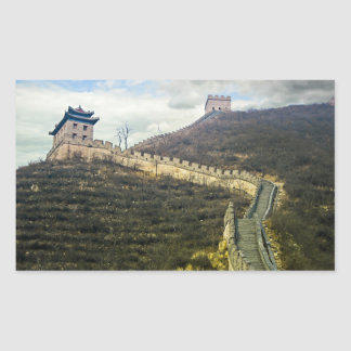 Up the Great Wall Rectangular Stickers