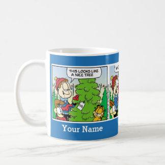 """Up Till July"" Garfield Comic Strip Mug"