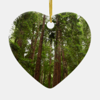 Up to Redwoods at Muir Woods National Monument Ceramic Heart Decoration