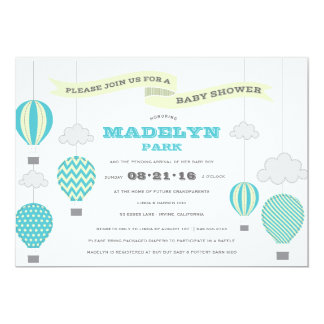 Up Up And Away Baby Shower Invitation