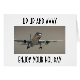 UP UP AND AWAY-ENJOY YOUR HOLIDAY GREETING CARD