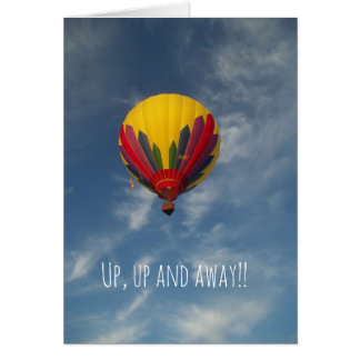 Up, Up and Away Hot Air Balloon Anniversary Card