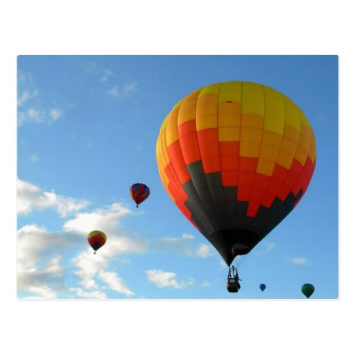 Up Up and away in my beautiful baloon lalala Postcard