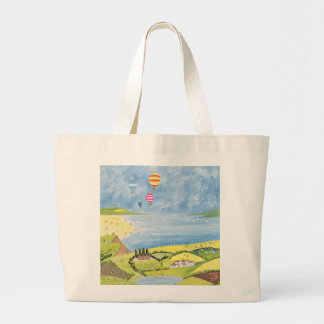 Up up and away large tote bag