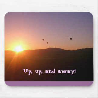 Up, up, and away! mouse mat