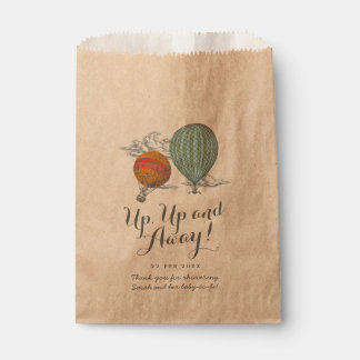 Up Up and Away Vintage Balloon Baby Shower Favour Bags
